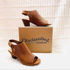 New!City Classified Women's Heel Peep Toe Sandal